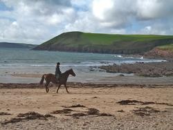 Horse Riding At Manorbier